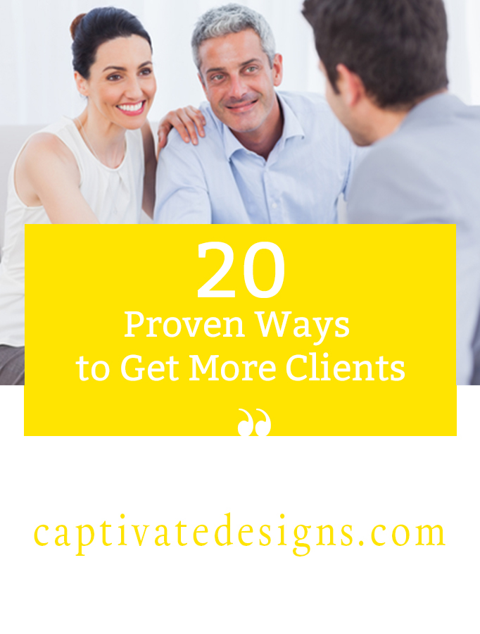 20 Proven Ways to Get More Clients