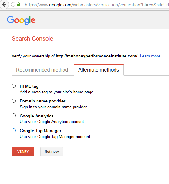 Where to Start with SEO - Google Search Console Verification