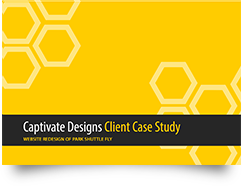 Website redesign case study design