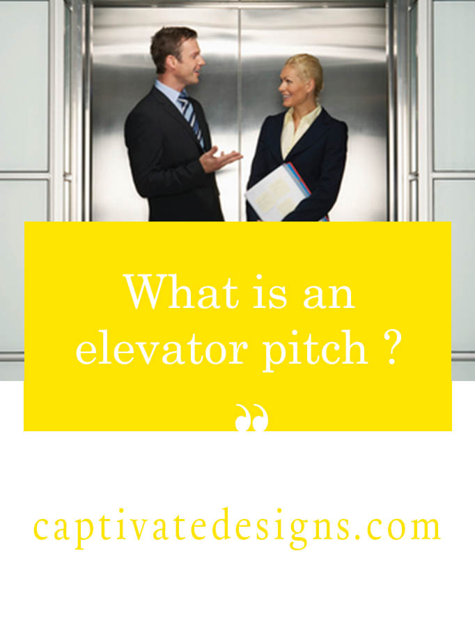 Find out what is an elevator pitch