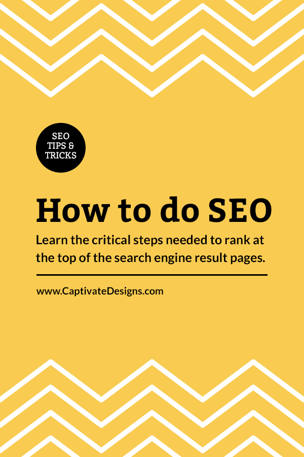 SEO Tips & Tricks - Learn how to do so
